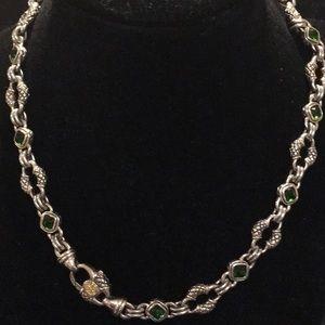 Scott Kay SS and Green Tourmaline Necklace